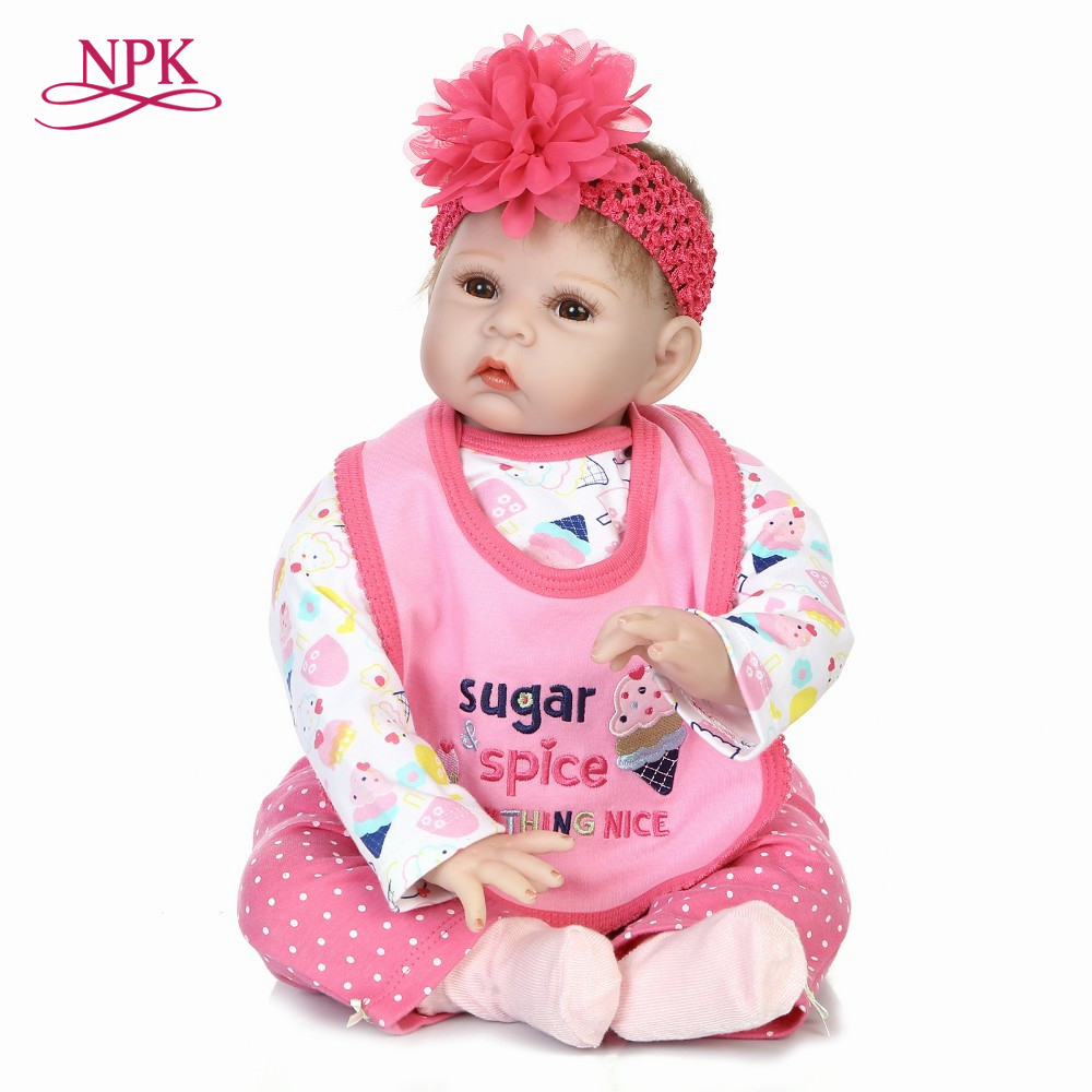 NPK reborn doll with soft real gentle touch hotsale lifelike fashion baby doll with soft cotton body most popular doll все цены