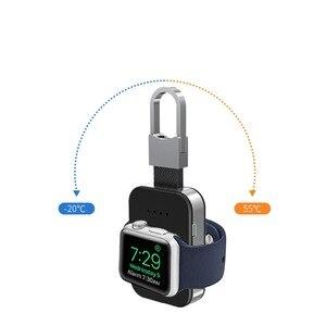 Image 5 - Qi carregador sem fio para apple relógio de pulso banda 4 42mm/38mm iwatch 3 4 portátil inteligente bloco bateria externa chaveiro power bank