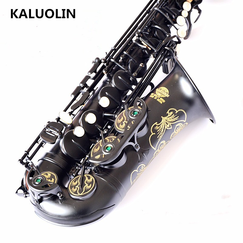 France Lehmann musical instrument saxophone E flat alto saxophone Black Nickel Gold black sax pearl Perform Alto music promotio alto sax dhl free shipping new high quality france eb alto selmer 54 and saxophone matte black pearl professional instrument