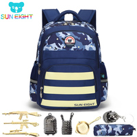 SUN EIGHT School Bags Children Backpack Camouflage School Backpack For Boys Kids Rucksack Travel Backpacks