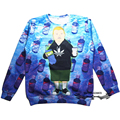 Women Men Harajuku Rap Game Bobby Hill Crewneck Sweatshirt Purple Drank funny Sweats King of the Hill Tops Jumper 3d Hoodies