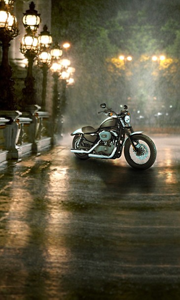 New Arrival Background Fundo Night Street Motorcycle Width