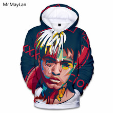 XXXTentacion Rapper Singer 3D Print Hoodies Men/Women Hip Hop Streetwear Jacket Hat Sweatshirts High School Boys Fashion Clothes