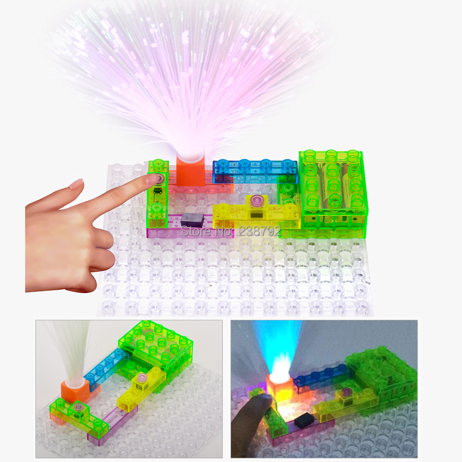44Pcs Educati... Circuit Kit With Lighted Bricks 120 Different Projects In 1