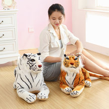 GGS 60cm simulation 3D Siberian tiger Education model plush toy doll,white tiger dolls children's day birthday Xmas gift(China)