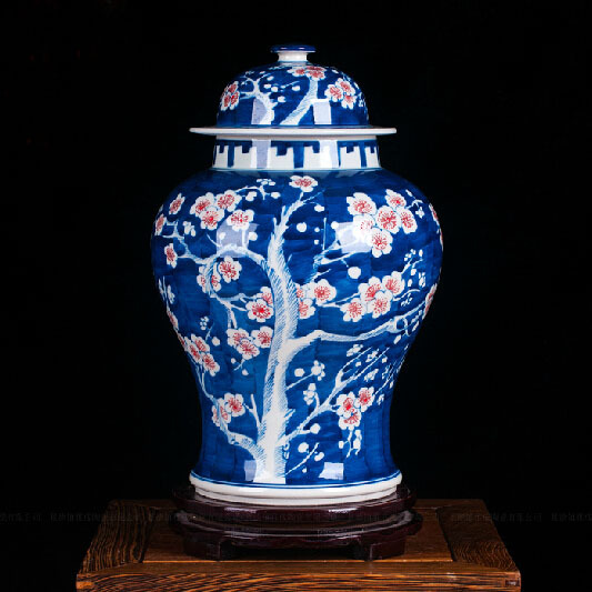 Qing Kangxi Antique Reproduction Chinese Porcelain Ice Plum Ceramic