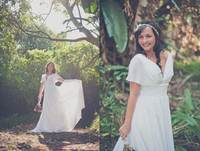 free shipping 2016 Grecian Goddess Discounted Store Sample Wedding Dress with Sheer Sleeves pregnant women white wedding dresses
