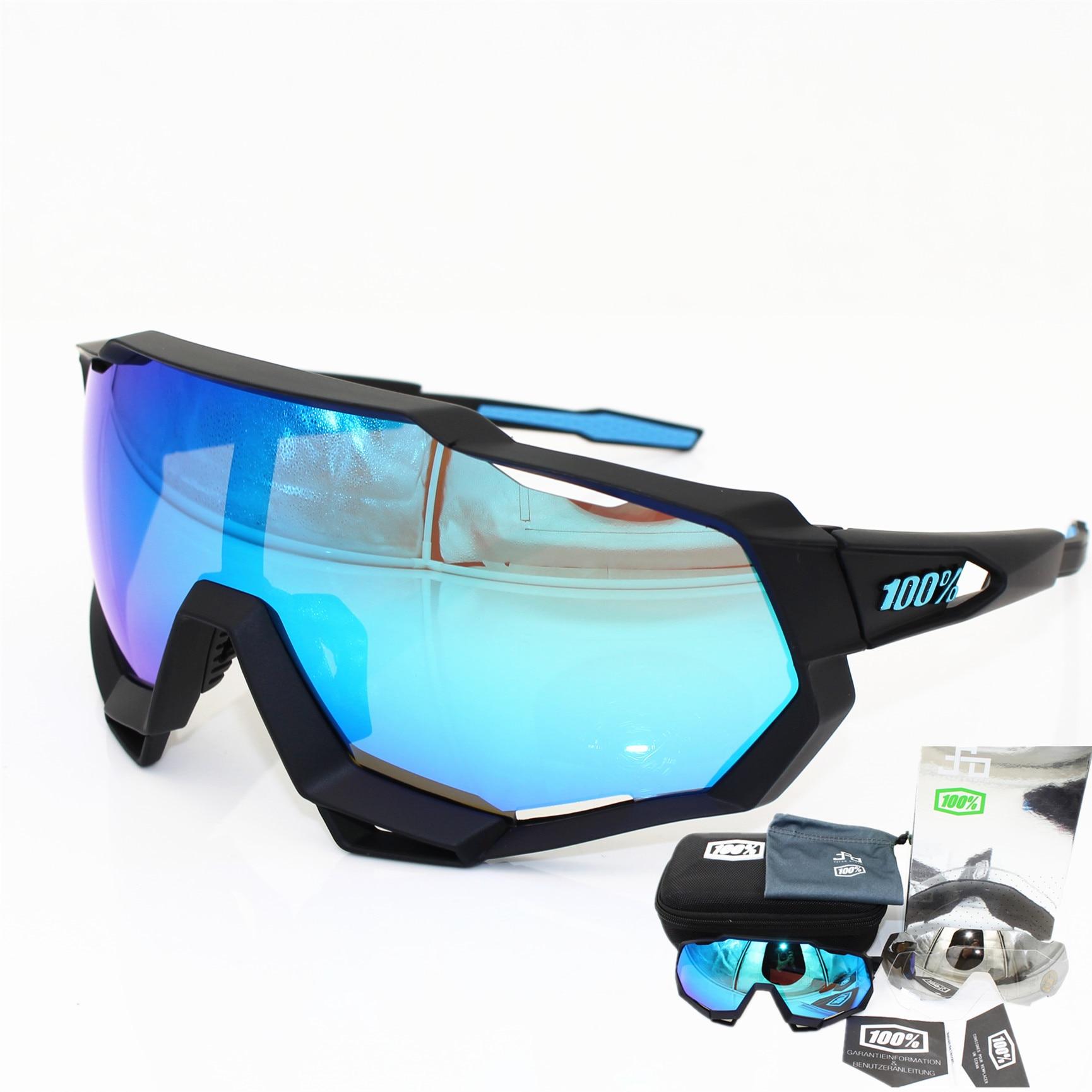 100 speedtrap speedcraft 2018 Marke Basis Sport Fahrrad Sonnenbrille Gafas ciclismo Radfahren Gläser Brillen 3 objektiv