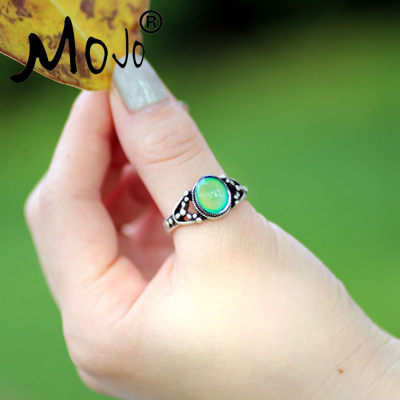 Mojo Винтаж Богемия Ретро Цвет изменить настроение кольцо чувство эмоция переменчивый кольцо Контроль температуры кольцо для Для женщин …
