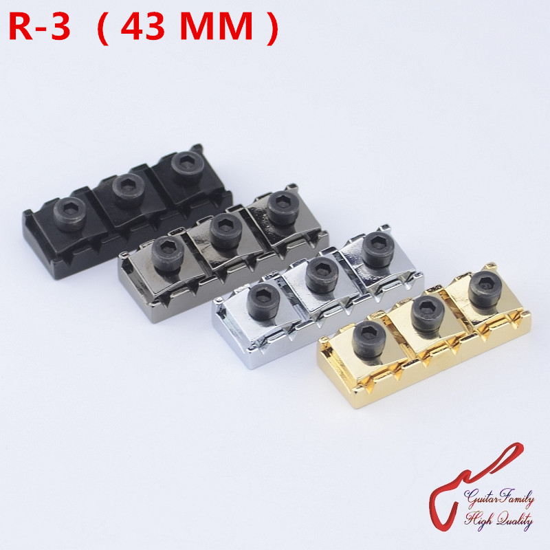 1 Set GuitarFamily Electric Guitar Tremolo System Bridge Locking Nut  R-3  43MM MADE IN KOREA