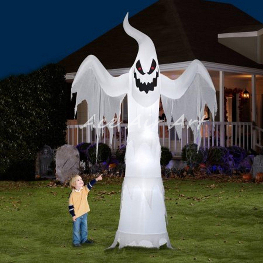 halloween ghost with lights inflatable halloween yard decorationschina - Halloween Lawn Decorations