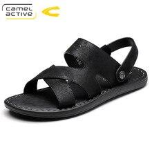 7a8807a92 Camel Active Nova Chegada Sandálias de Couro Genuíno Dos Homens Sapatos  Feitos À Mão Clássicos Dos