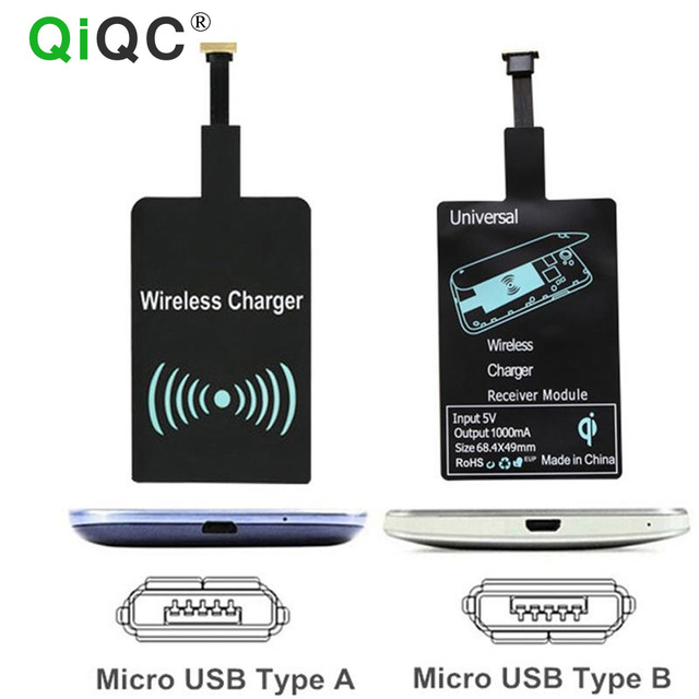 Qi Wireless Charger Charging Adapter Receiver Pad Coil Chip For iPhone 5s  6s Plus Samsung S6 S7 S3 S5 S4 Mini Note 5 3 4 2 LG G5-in Wireless Chargers
