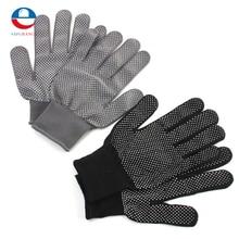 1 Pair Hair Straightener Curling Tong Hairdressing Heat Resistant Finger Gloves Skid Resistance Burn-proof Black Grey