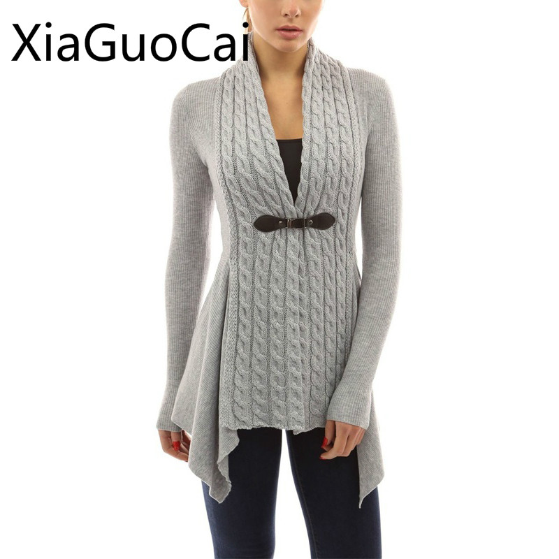High Quality New Style Women Cardigan Sweaters Long Single Button Female Sweaters Knitte ...