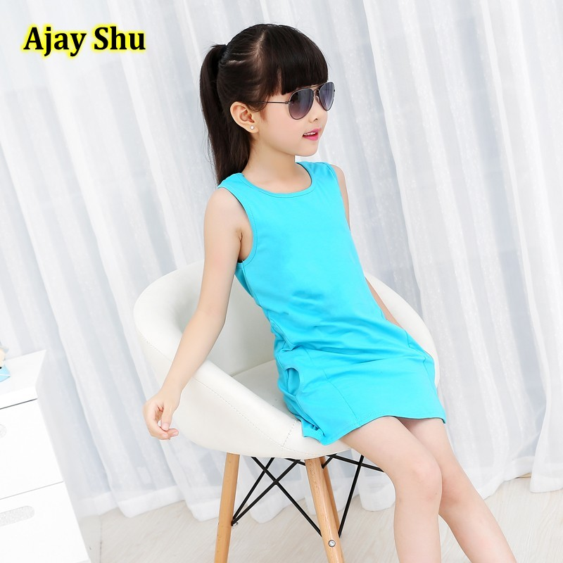 Vest Dresses For Girls Summer Girls Clothes Fashion Children Clothing Cotton Striped Kids Dress Casual Child Princess Sundress summer girls dresses casual children clothing sleeveless striped baby clothes for girls o neck striped brilliant color