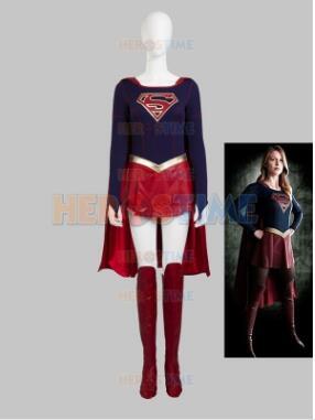 Supergirl Kara Adult Mens/Kid Cosplay Costumes Men/Boy Superhero Costume High Quality Zentai Anime Bodysuit