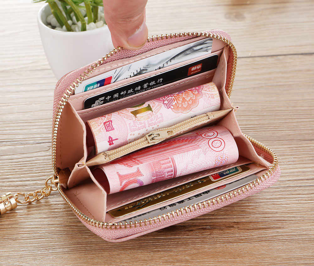 0b249990285 Women Simple Retro Letters Short Wallet Coin Purse Card Holders Handbag  Designer Wallets Famous Brand New Tassel Decoration