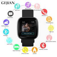 GEJIAN smart watch men's and women's heart rate blood pressure oxygen monitor fitness tracker IP68 waterproof clock sports watch
