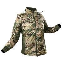 Military Airsoft Tactical Jacket Rfi Uniform Waterproof Velvet Ultra Light Warm Riding Jacket Camo Jacket Army Police Uniforms