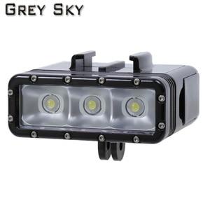 Image 2 - Go Pro Diving flashLight lamp LED Flash Video Light For GoPro Hero 5 4/3+,SJCAM SJ4000 sj 4000 Xiaomi Yi 4k 2 camera accessories