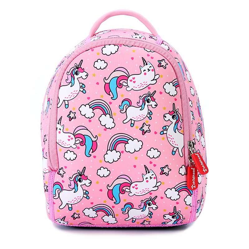 Mochilas escolares Unicornio rosa para niñas Mochilas para niños Mochila de jardín de infantes Diseño de animales Mochila pequeña para niños Mochila infantil