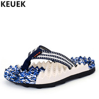 Summer Men Slippers Non Slip Comfortable Outdoor Beach Shoes Fashion Male Slides Popular Youth Flip Flops Flats 02C