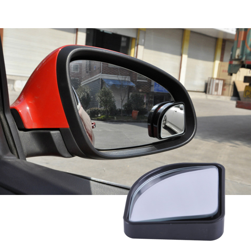 1pair 360 adjustable degrees Wide Angle Side Rear Mirrors blind spot With Edge for parking rear view mirror high quality