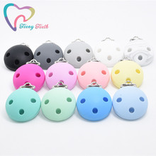 10 PCS Round Pacifier Clip Silicone Beads Baby Teething Acce