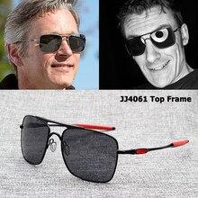 Jackjad 4061 quadro superior quadrado esportes aviação polarizado óculos de sol marca design qualidade novo oculos de sol masculino