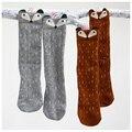 Meninas meias de Algodão do bebê meninas bonito padrão fox meia crianças Joelho meias Altas meninas collants kawaii para 1-5years