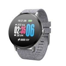 Купить с кэшбэком RUIJIE V11 Smart Watch IP67 Waterproof Tempered Glass Activity Fitness Tracker Heart Rate Monitor Men Women Sport Smartwatch