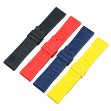 Silicone strap mens watch accessories 22mm24mm for Breitling outdoor sports waterproof rubber women band