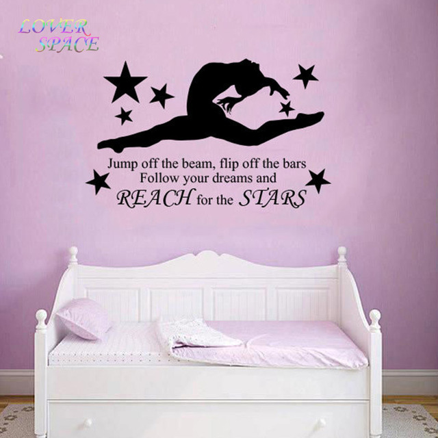 Girls Wall Art aliexpress : buy gymnast gymnastic girls bedroom quote vinyl