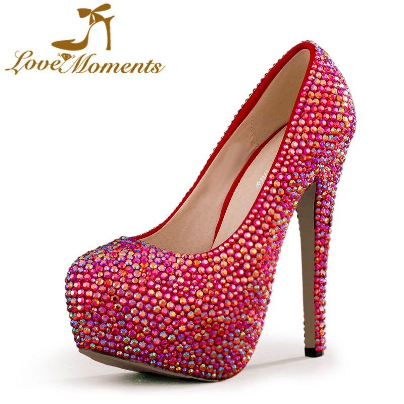 a83a7bb64 Love Moments zapatos mujer zapatos de novia Plataforma atractiva de los altos  talones del partido de