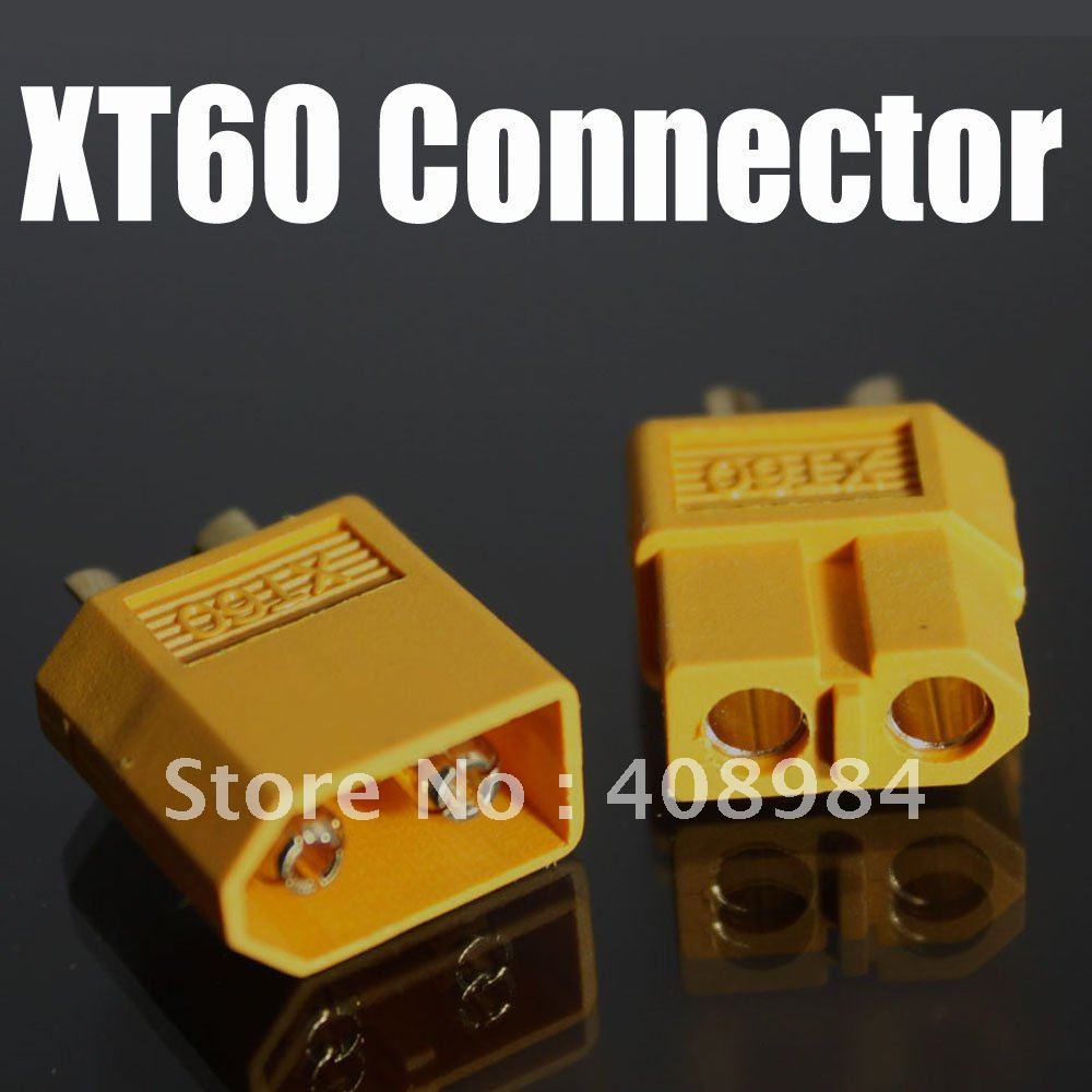 free shipping 100PCS  XT60 Bullet Connectors Plugs Male Female  For RC Battery,wholesale 75ohm coaxial female connectors plugs 5 pcs