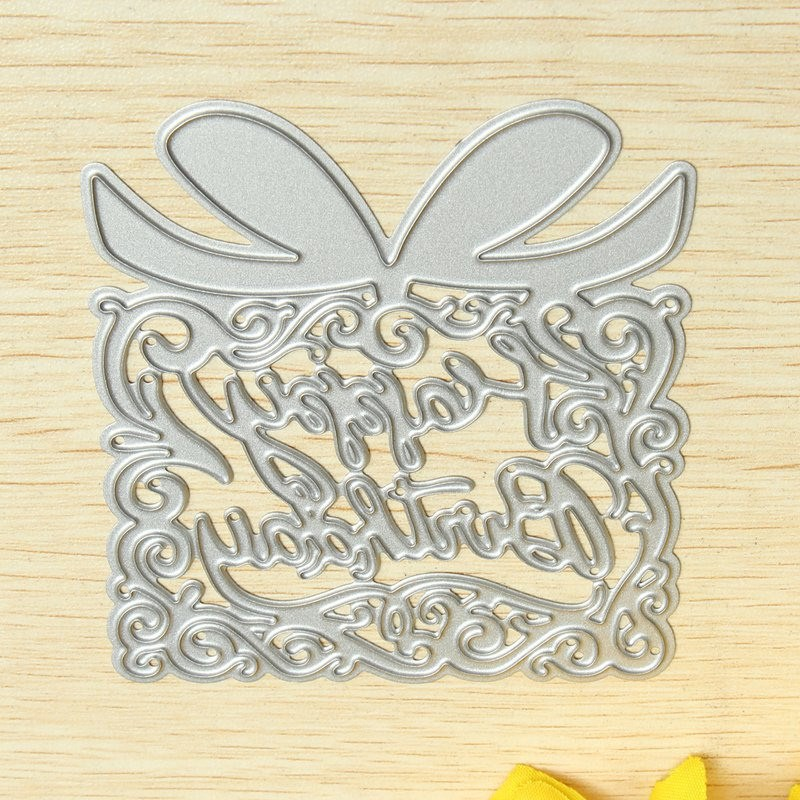 KiWarm Gift Box Design Metal Cutting Dies Stencils Template Bookmark for Scrapbooking Card Album Painting Embossing DIY Crafts