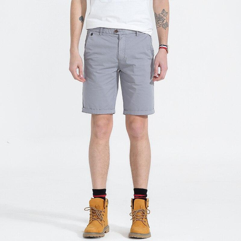 Casual Shorts Men Bermuda Masculina Male New Slim Work Shorts Knee-length Man Military Cotton Short Pants Pantalon Corto Hombre