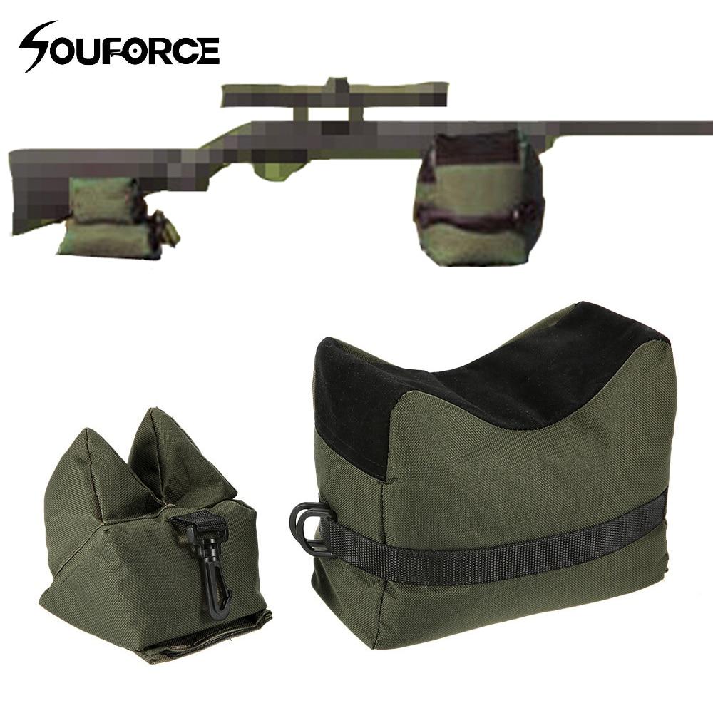 Frente & traseiro saco de apoio rifle sandbag sem areia sniper caça alvo suporte arma de caça acessórios
