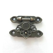 2Pcs Antique Alloy Decor Jewelry Trinket Wooden Box Hasp Clasps Latch Hook,35*25mm