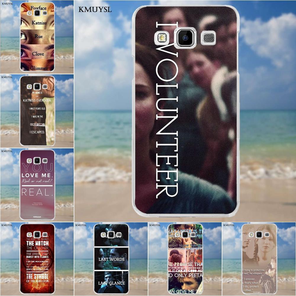 Kmuysl Soft TPU Mobile Phone For Samsung Galaxy A3 A5 A7 J1 J2 J3 J5 J7 2015 2016 2017 The Hunger Games Real Or Not Quotes