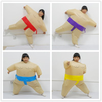 Boys Girls Inflatable Sumo Costume Easter Day Funny Dress Cosplay Halloween Costume for Kids Birthday Gift