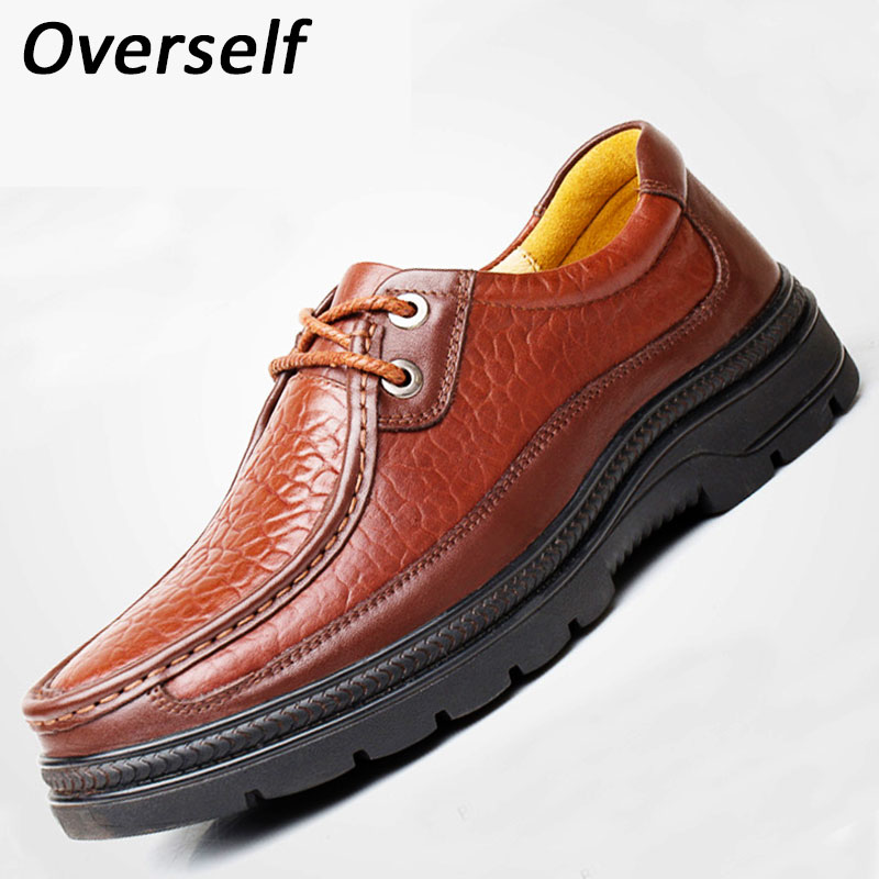 High Qualtiy Men Casual Shoes Luxury Brand New Fashion Genuine Leather Black Formal Dress Wedding Brogues Shoes For Men Big Size cbjsho brand men shoes 2017 new genuine leather moccasins comfortable men loafers luxury men s flats men casual shoes