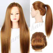 22 Blonde Hair Mannequins Professional Styling Head Wig Mannequin Head Hairdressing Dummy Doll Head Female Makeup