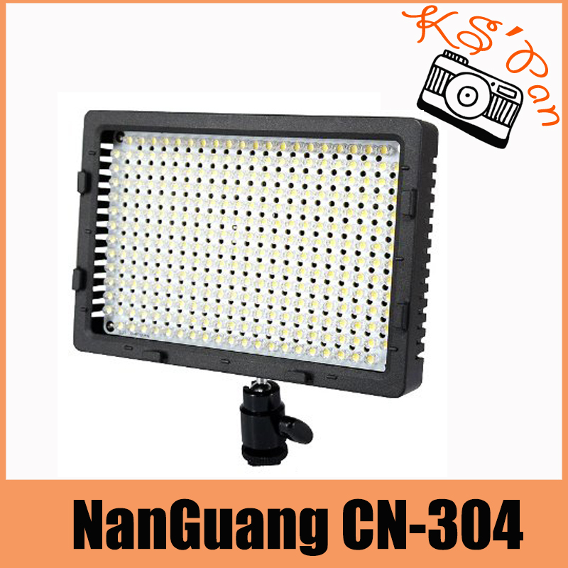NanGuang CN-304 304 LED Camera Video Light Lamp Panel Dimmable for Canon Nikon Pentax DSLR Camera Video Camcorder Free Shipping