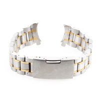 20mm New Goldene Silber Armbanduhr Teil Edelstahl Band Metall Armband Armband herrenuhr Band Zubehör Uhrenarmbänder
