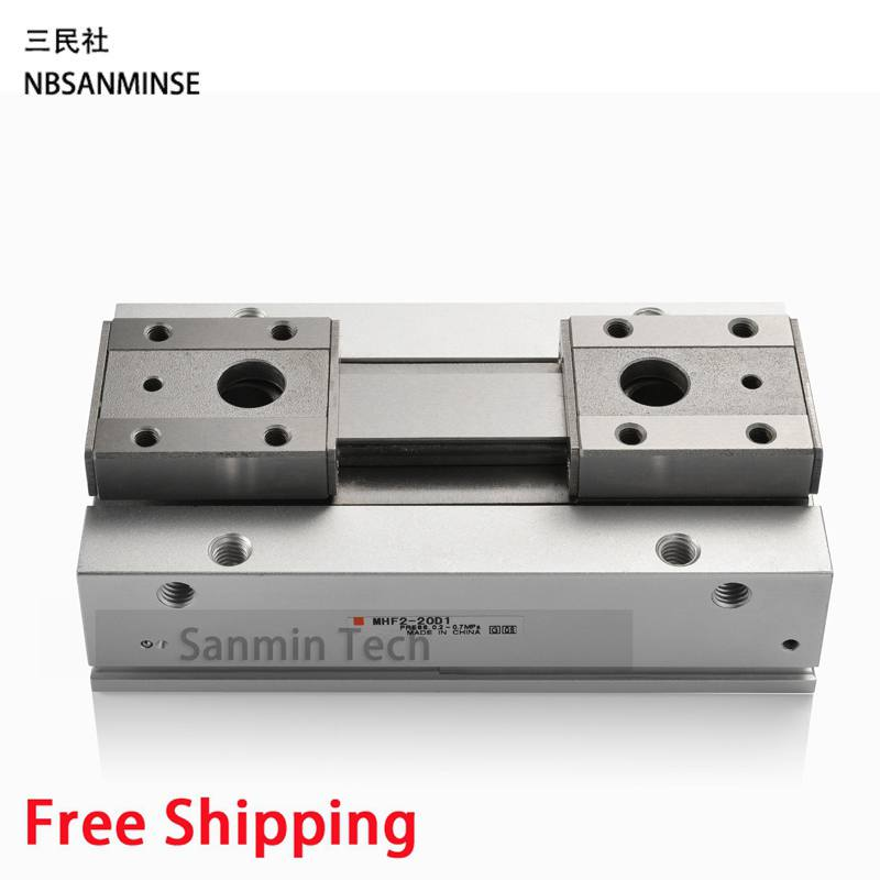 Air Pneumatic Gripper Linear Electric Parallel Gripper MHF2 SMC Type 0.1 To 0.7MPa Cylinder Compressed High Quality Sanmin high quality double acting pneumatic air cylinder gripper mhc2 10d smc type angular style aluminium clamps
