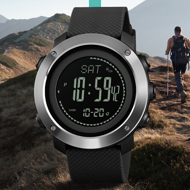 Sports Watches Men Pedometer Calories Digital Watch Women Altimeter Barometer Compass Thermometer Weather Reloj Hombre And To Have A Long Life. Digital Watches Watches