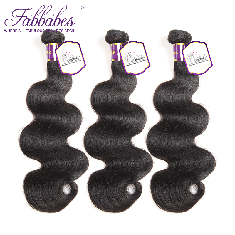 Fabbabes Hair 3 Bundles Mongolian Body Wave 100% Human Hair