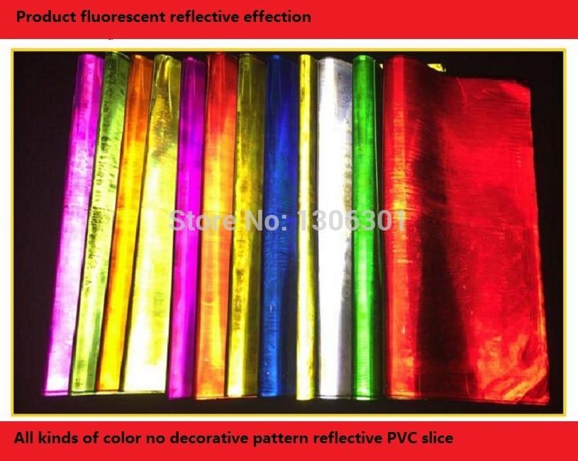 Reflective PVC material fluorescent reflective PVC slice